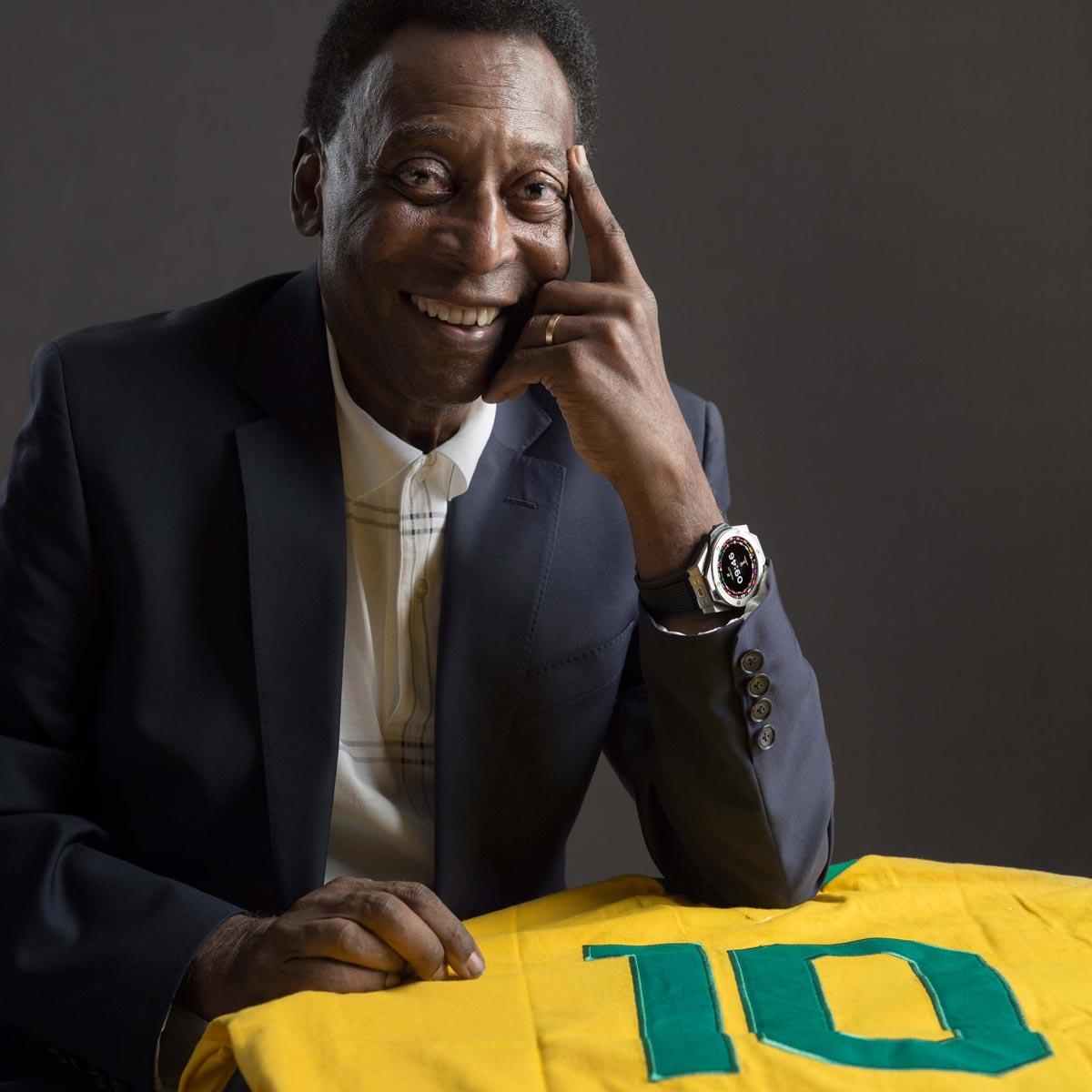 La Cote des Montres : Photo - Pelé traverse l'atlantique pour rencontrer Kylian Mbappé