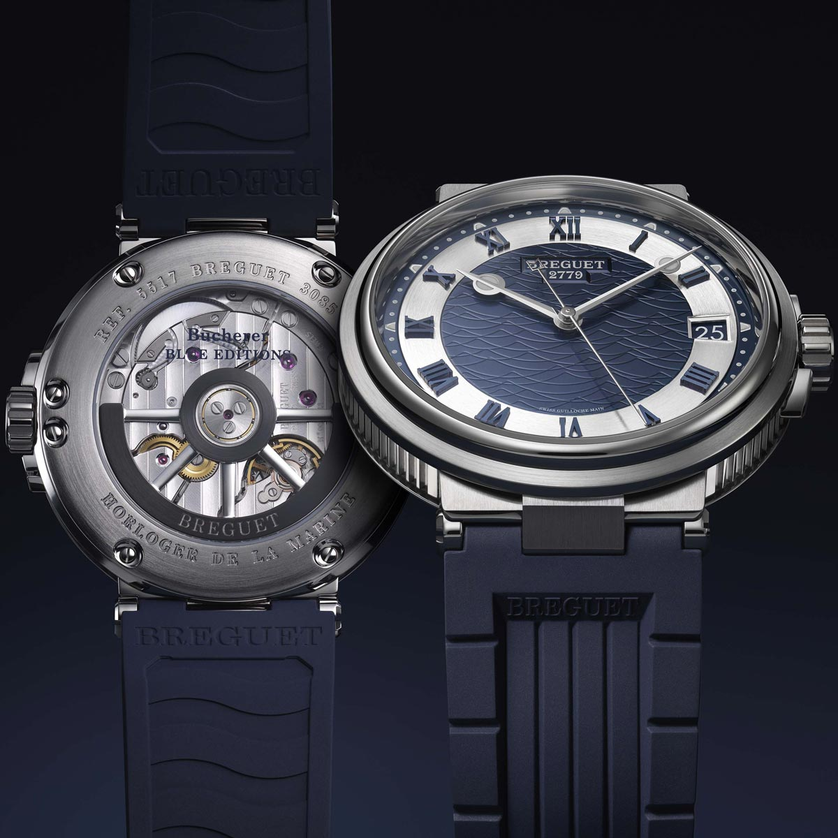 La Cote des Montres : Photo - Breguet Marine 5517 Bucherer Blue Editions