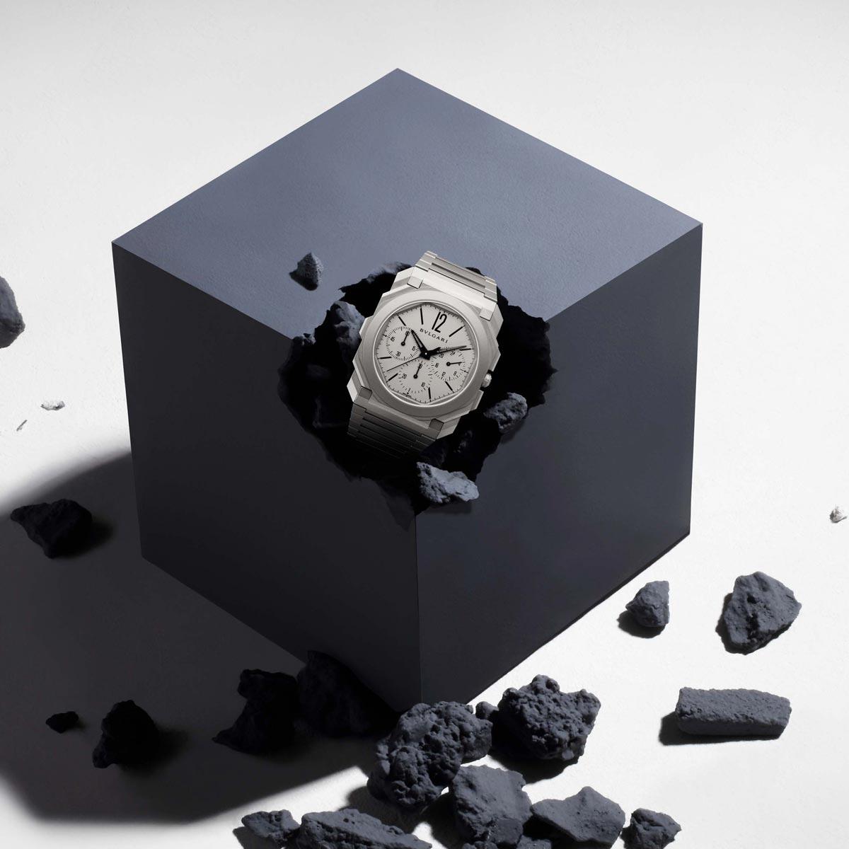 La Cote des Montres : Photo - Prix de la montre chronographe : Bvlgari Octo Finissimo Chronographe GMT Automatique