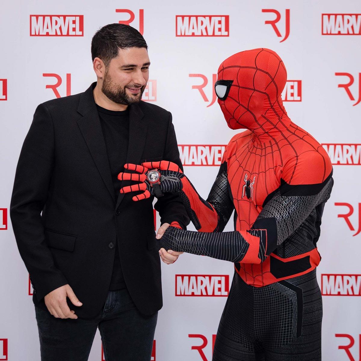 La Cote des Montres : Photo - Lancement de la collection de montres RJ Spider-Man aux États-Unis