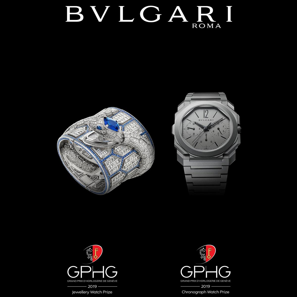 La Cote des Montres : Photo - Prix de la montre chronographe : Bvlgari Octo Finissimo Chronographe GMT Automatique