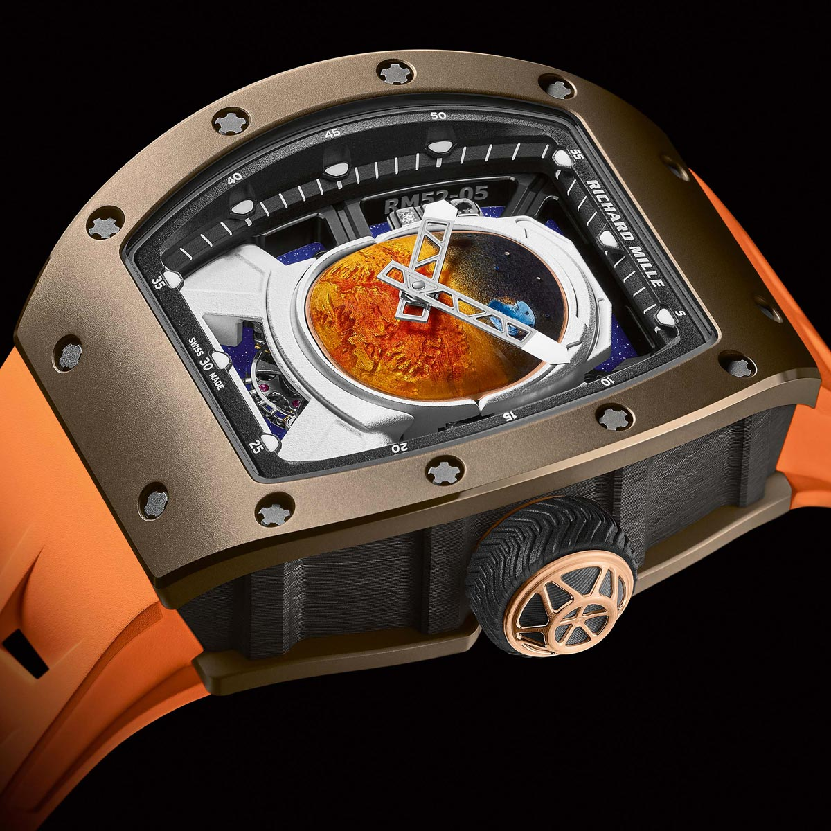 La Cote des Montres : Photo - Richard Mille RM 52-05 Tourbillon Pharrell Williams
