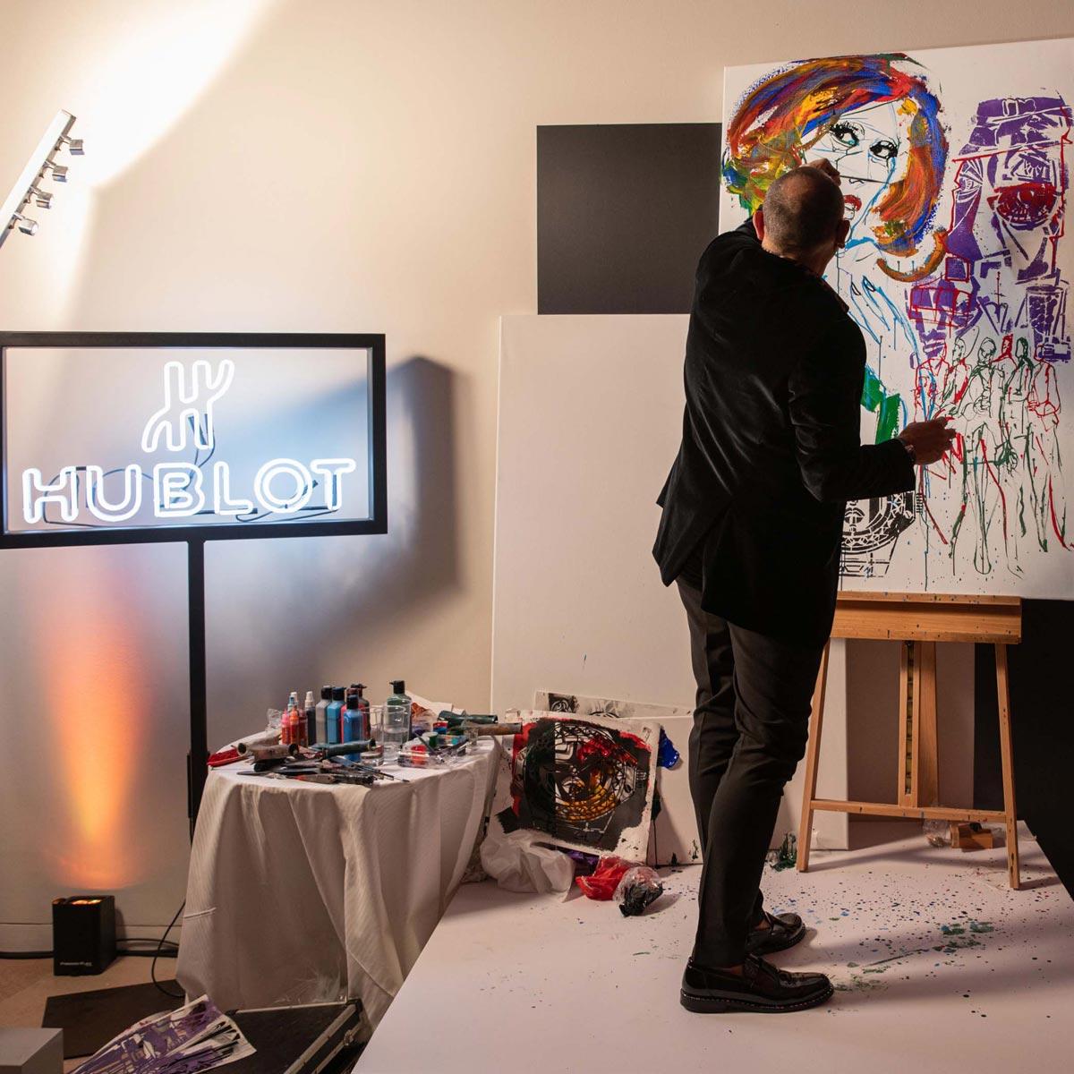 La Cote des Montres : Photo - Hublot célèbre l'art, letemps d'unenuit àParis