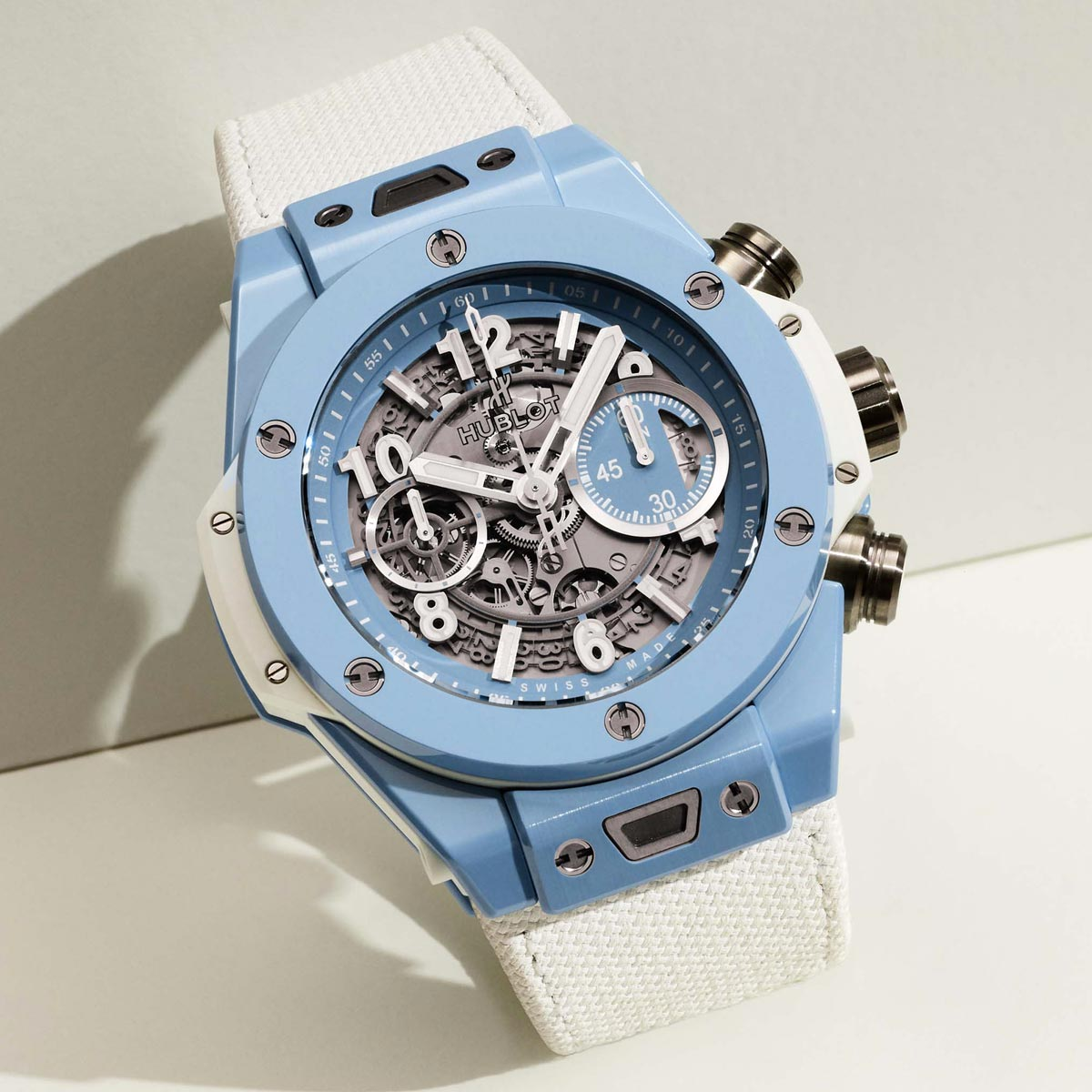 La Cote des Montres : Photo - Hublot Big Bang Unico Sky Blue