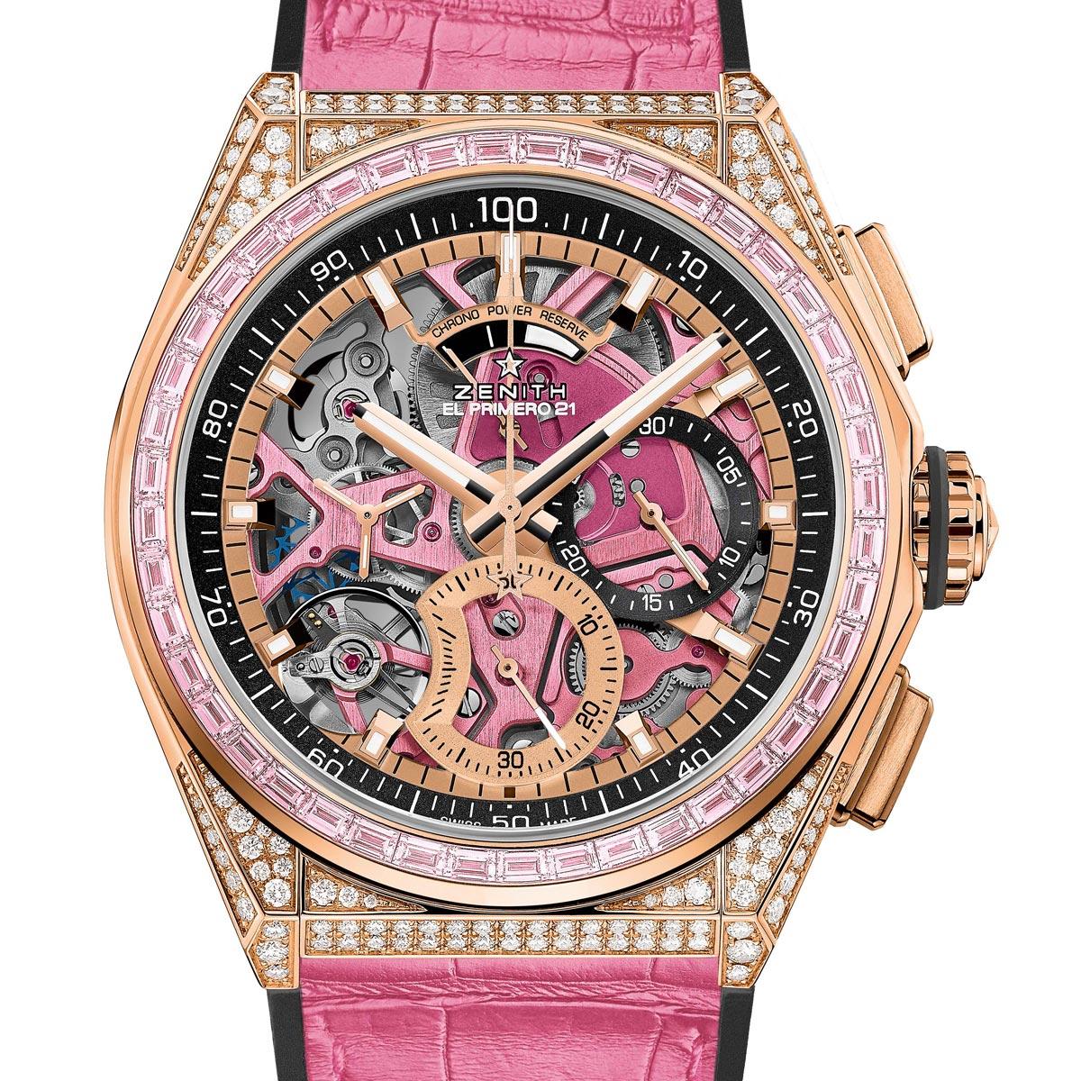 La Cote des Montres : Photo - Zenith Defy21 Pink Edition