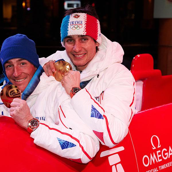 La Cote des Montres : Photo - Omega rend hommage aux médaillés d'or français des Jeux Olympiques d'Hiver