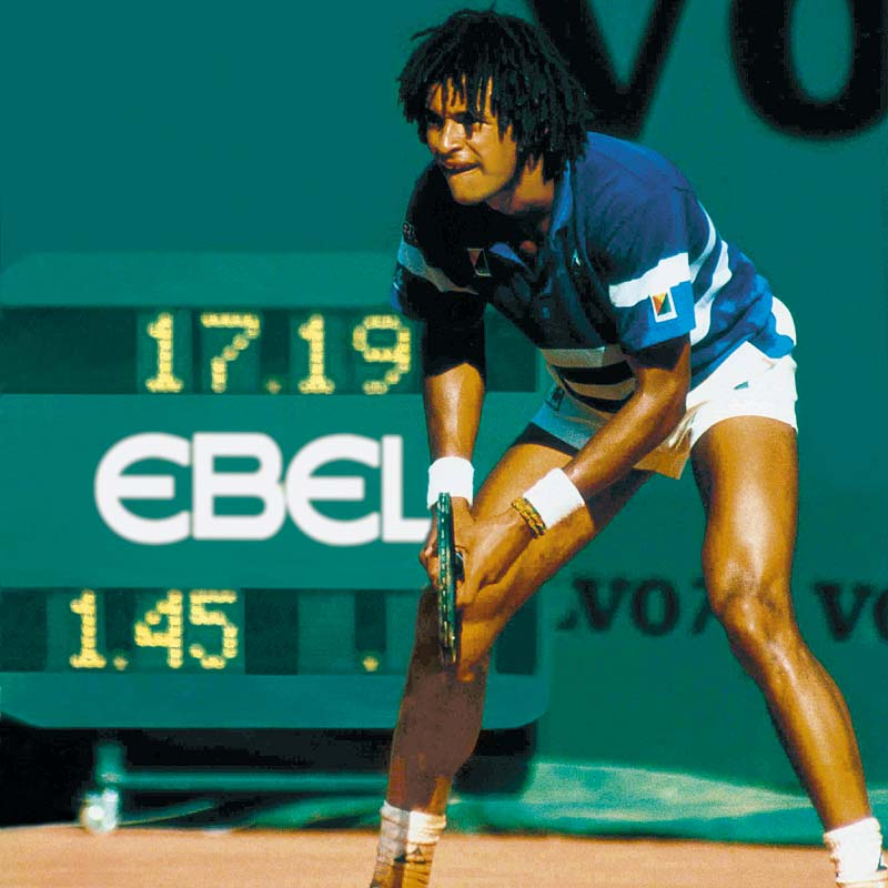 The Watch Quote: Photo - Yannick Noah and Ebel go back a long way
