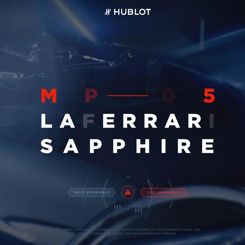 La Cote des Montres : Photo - Hublot MP-05 LaFerrari Sapphire – hommage à la FXX K