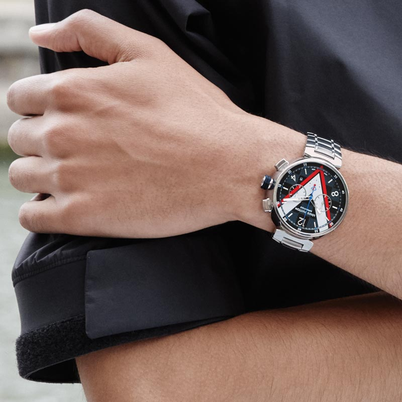 La Cote des Montres : Photo - Louis Vuitton Tambour Damier Cobalt chronographe