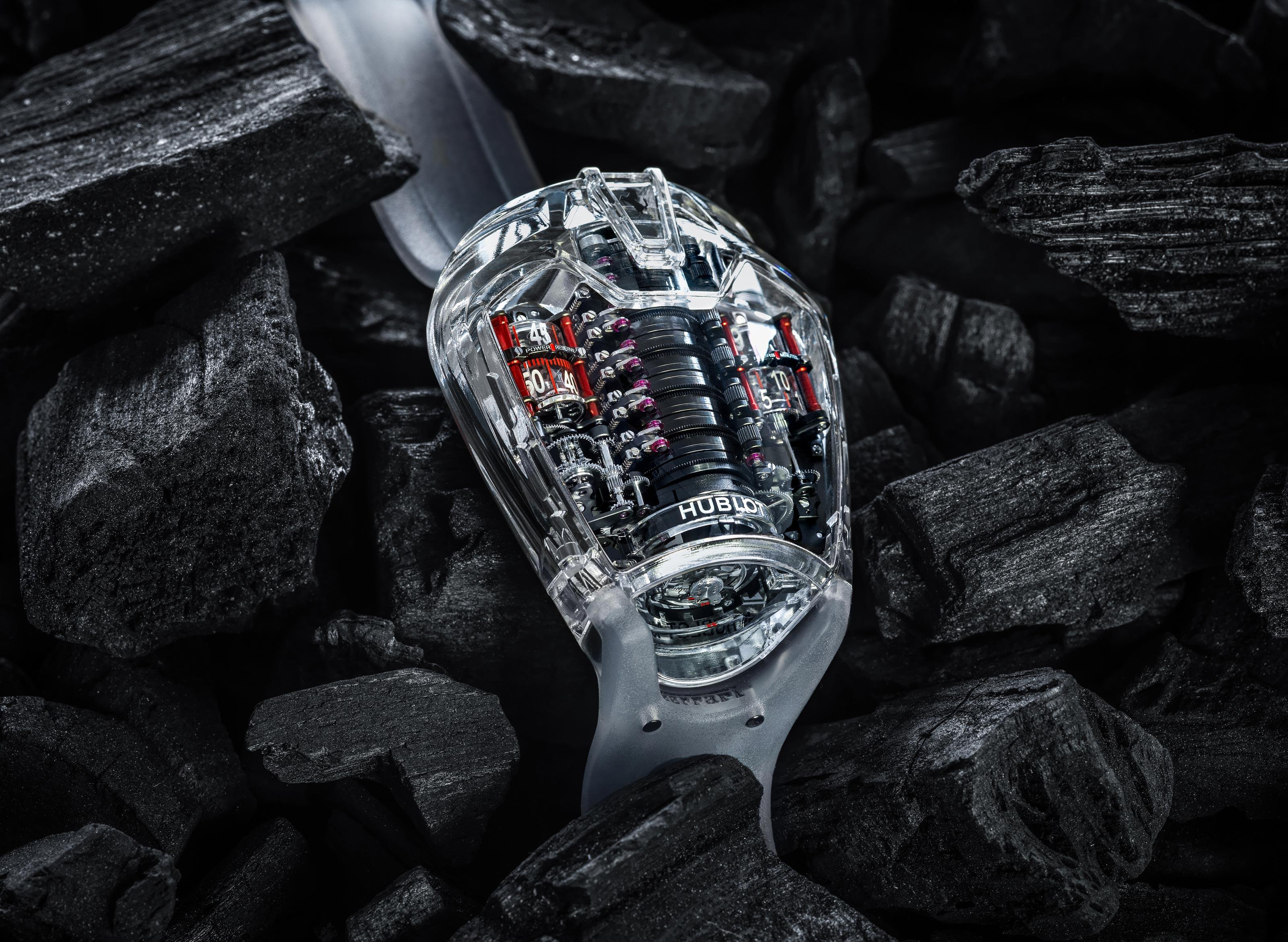 La Cote Des Montres The Hublot Mp 05 Laferrari Sapphire Watch A Sapphire Setting For The Record Breaking Movement