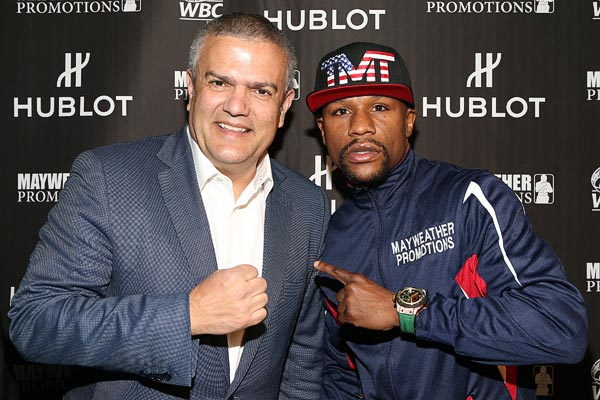 Mayweather to adorn Hublot on fight night boxing trunks