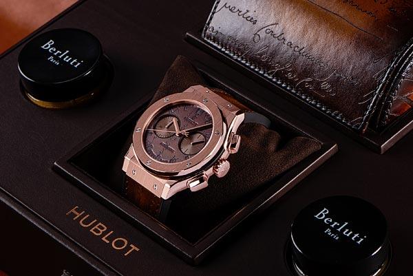 Hublot et Berluti dévoilent la montre Classic Fusion Chronograph Berluti Scritto