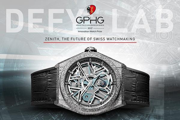 La Zenith Defy Lab remporte le Prix de l'Innovation au Grand Prix d'Horlogerie de Genève 2017