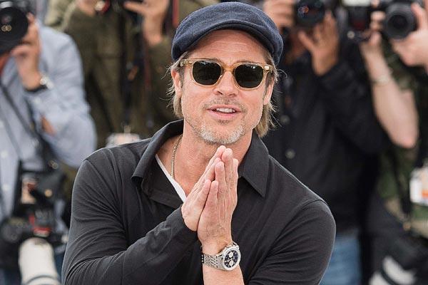 Brad Pitt, membre du Breitling Cinema Squad, au Festival de Cannes 2019