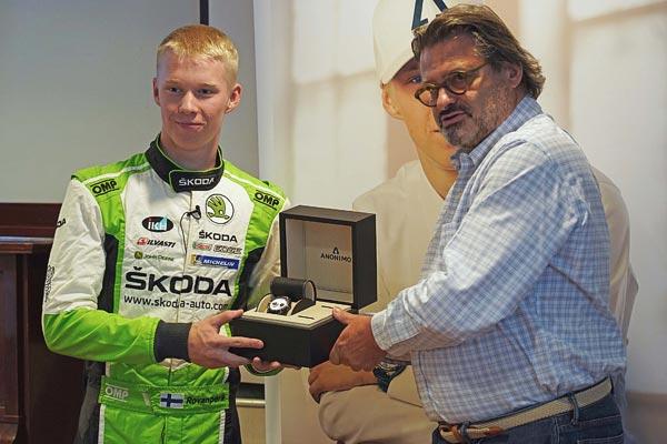 ANONIMO est fière de courir aux côtés de Kalle Rovanperä