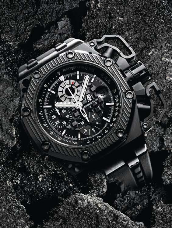The watch quote the audemars piguet survivor chronograph watch from the royal oak offshore line for Royal oak offshore survivor