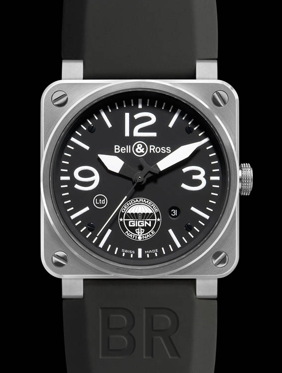 the watch quote the bell ross br 03 92 gign watch gign chooses bell ross in an ultra. Black Bedroom Furniture Sets. Home Design Ideas