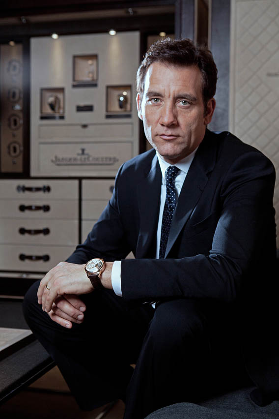 The watch quote academy award nominated actor clive owen presents jaeger lecoultre 39 s fine for Actor watches