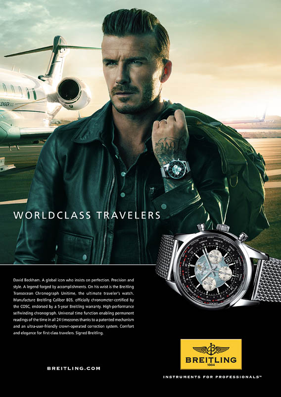 Top The Watch Quote: David Beckham travels with Breitling with its  RZ15