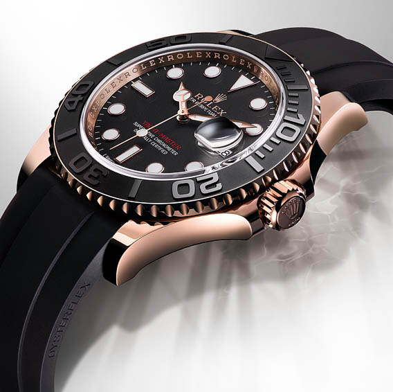 00f31ae6562 Rolex is introducing a new black and 18ct everose gold version of its  nautical Oyster Perpetual Yacht-Master