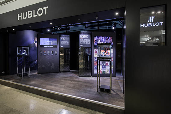 The Watch Quote: Hublot fluorescent fusion at Harrods ...